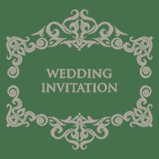 Floral ornamented wedding badge 7 Transparent PNG