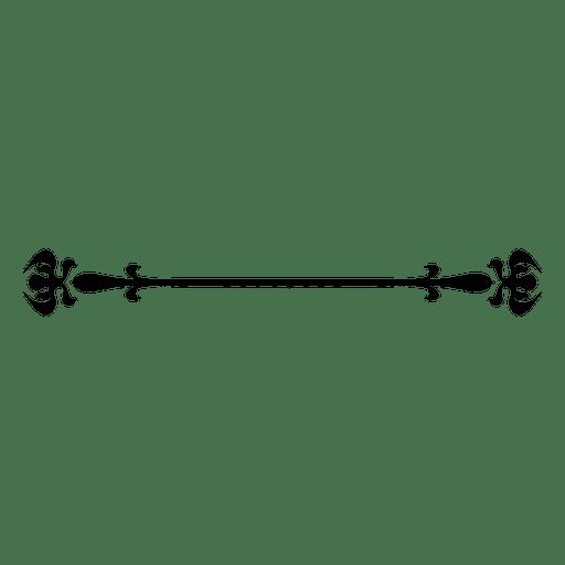 Floral ornate line divider Transparent PNG