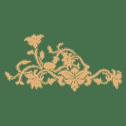 Floral redemoinhos decoração 5