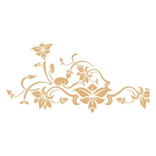 Decoración de remolinos florales 5
