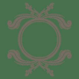 Remolinos florales del marco elíptico
