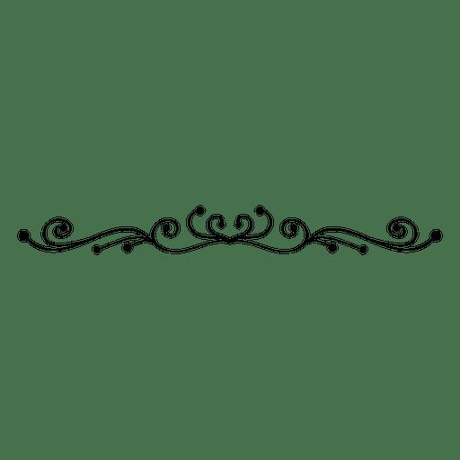 Adornos florales remolinos línea 2 Transparent PNG