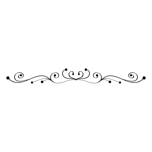 Floral swirls line ornament 2 Transparent PNG