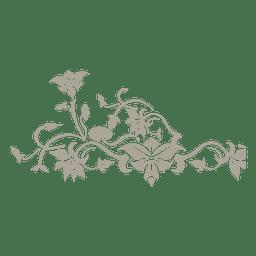 Ornamento floral de los remolinos 16
