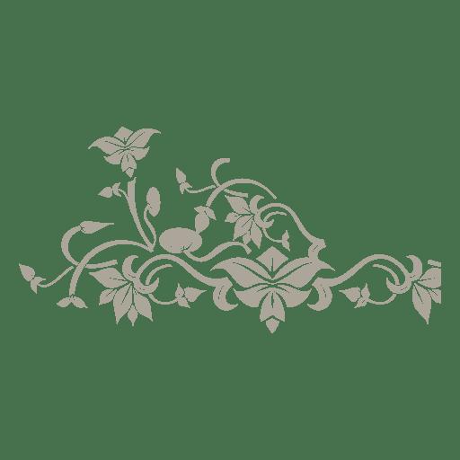 Floral swirls ornament 16