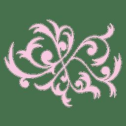 Floral swirls ornament 5