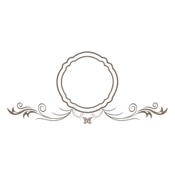 Redemoinhos florais frame redondo ornamentado