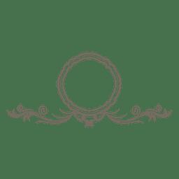 Remolinos florales del marco redondo adornado