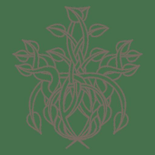 Remolinos florales decoracion de plantas Transparent PNG