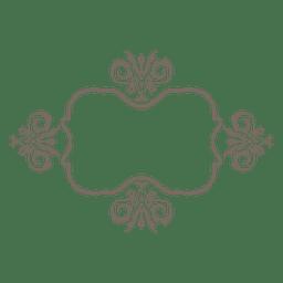 Curvas de flores ornamentadas fronteira