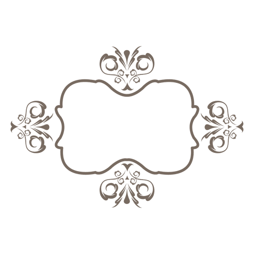 Curvas de flores ornamentadas fronteira Transparent PNG