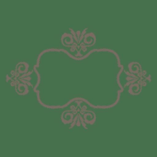 Flouring curves ornamented border Transparent PNG