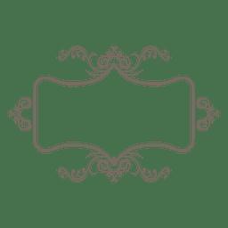 Adorno flotante con marco de decoración.