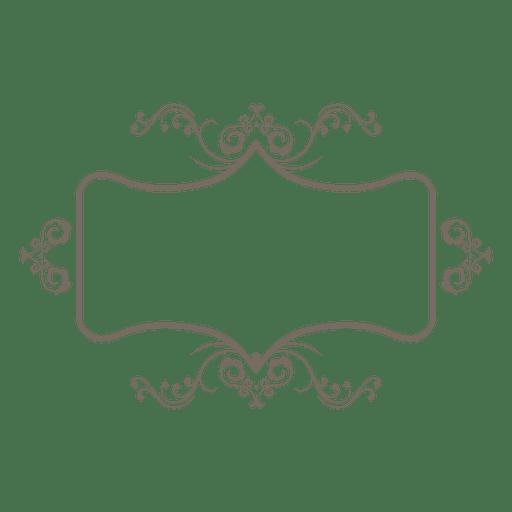 Decoração de quadro de ornamento de flores Transparent PNG