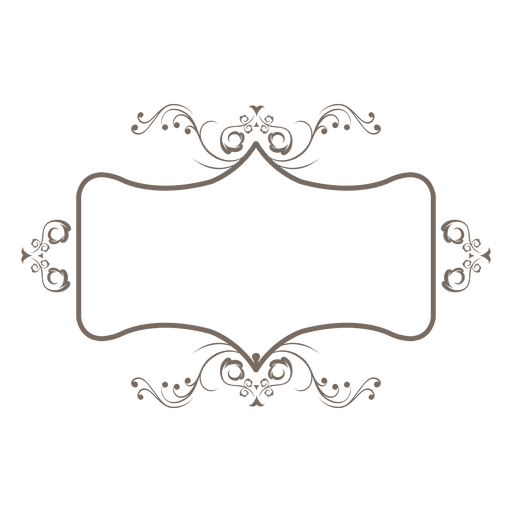 Flouring ornament frame decoration - Transparent PNG & SVG vector