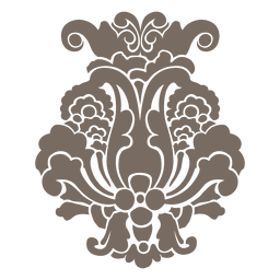 Adorno floral decorativo