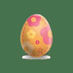 Flower painted easter egg