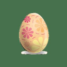 Flower painted easter egg 1