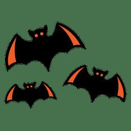 Dibujos animados de murciélagos volando 4