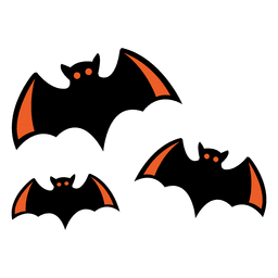 Flying bats cartoon 4