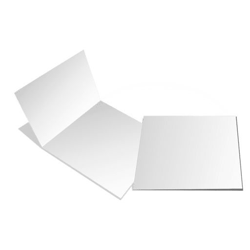 Folded blank cards Transparent PNG