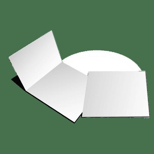 Folded blank cards