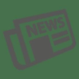 Icono de periódico doblado