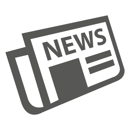 Folded newspaper icon Transparent PNG