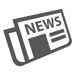 Icono de periódico plano doblado