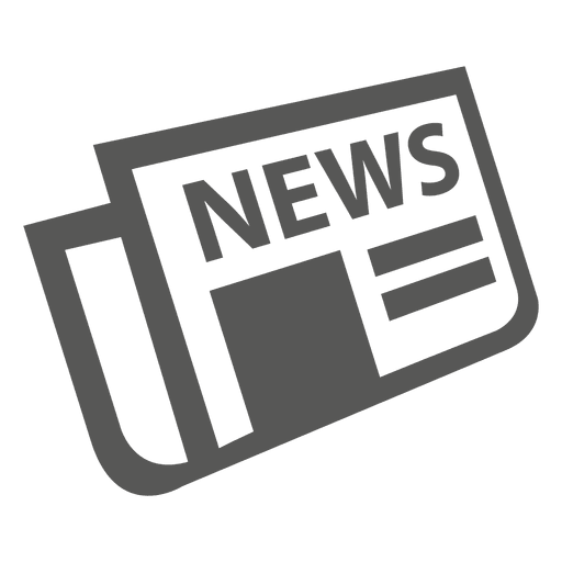 Flat folded newspaper icon Transparent PNG