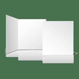 Cartão em branco liso dobrado