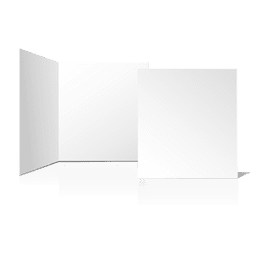 Folded plain blank card