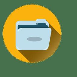 Icono de círculo de carpeta