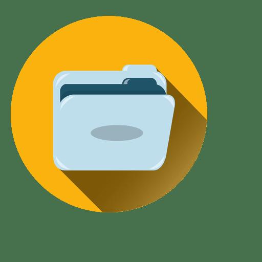 Ícone de círculo de pasta Transparent PNG