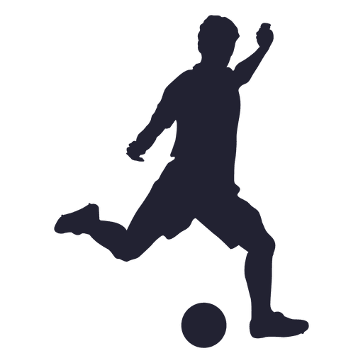 football player kicking silhouette png