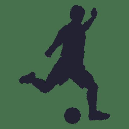 Jogador de futebol chutando a silhueta Transparent PNG