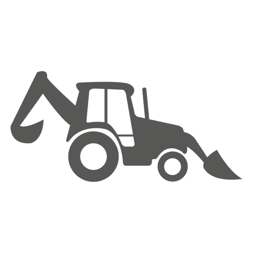 Front and backhoe loader icon