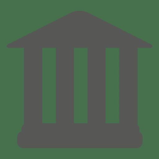 Símbolo del edificio del banco frontal