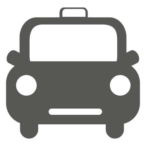 Front retro taxi icon Transparent PNG