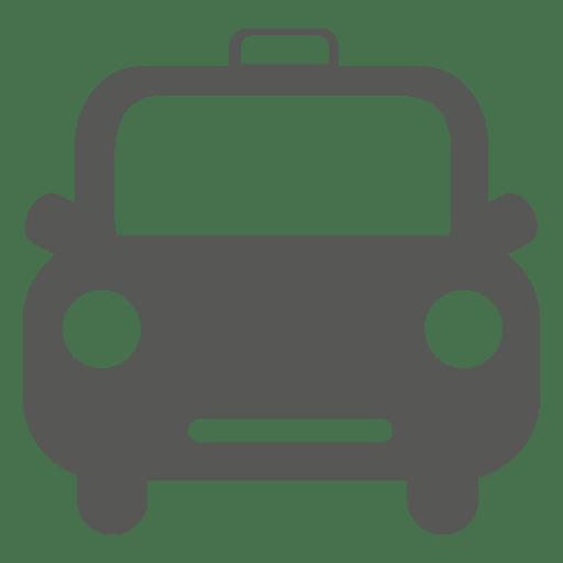 Front retro taxi icon