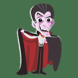 Personagem engraçado drácula