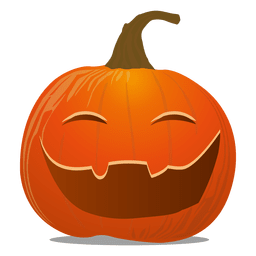 Funny pumpkin emoticon