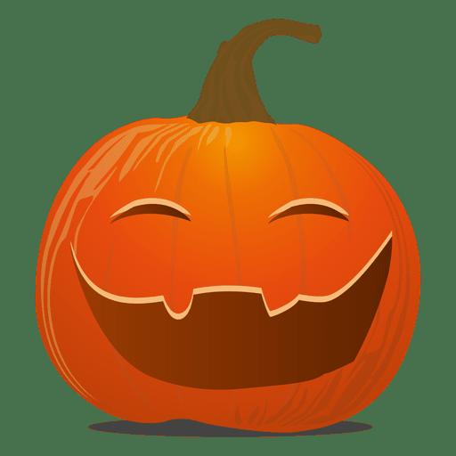 Funny pumpkin emoticon