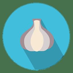 Icono de círculo de ajo