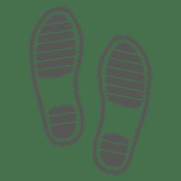 Huella de sandalias de caballero