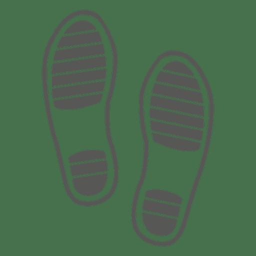 a07a8d0fb1878 Gents sandals footprint - Transparent PNG   SVG vector