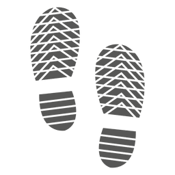 Icono de los hombres shoeprint