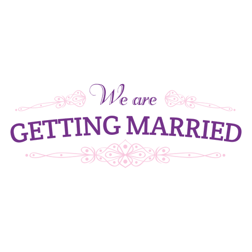 Getting married badge Transparent PNG