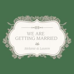 Convite floral casado