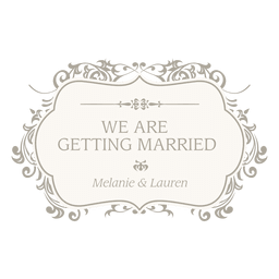 Getting married floral invitation